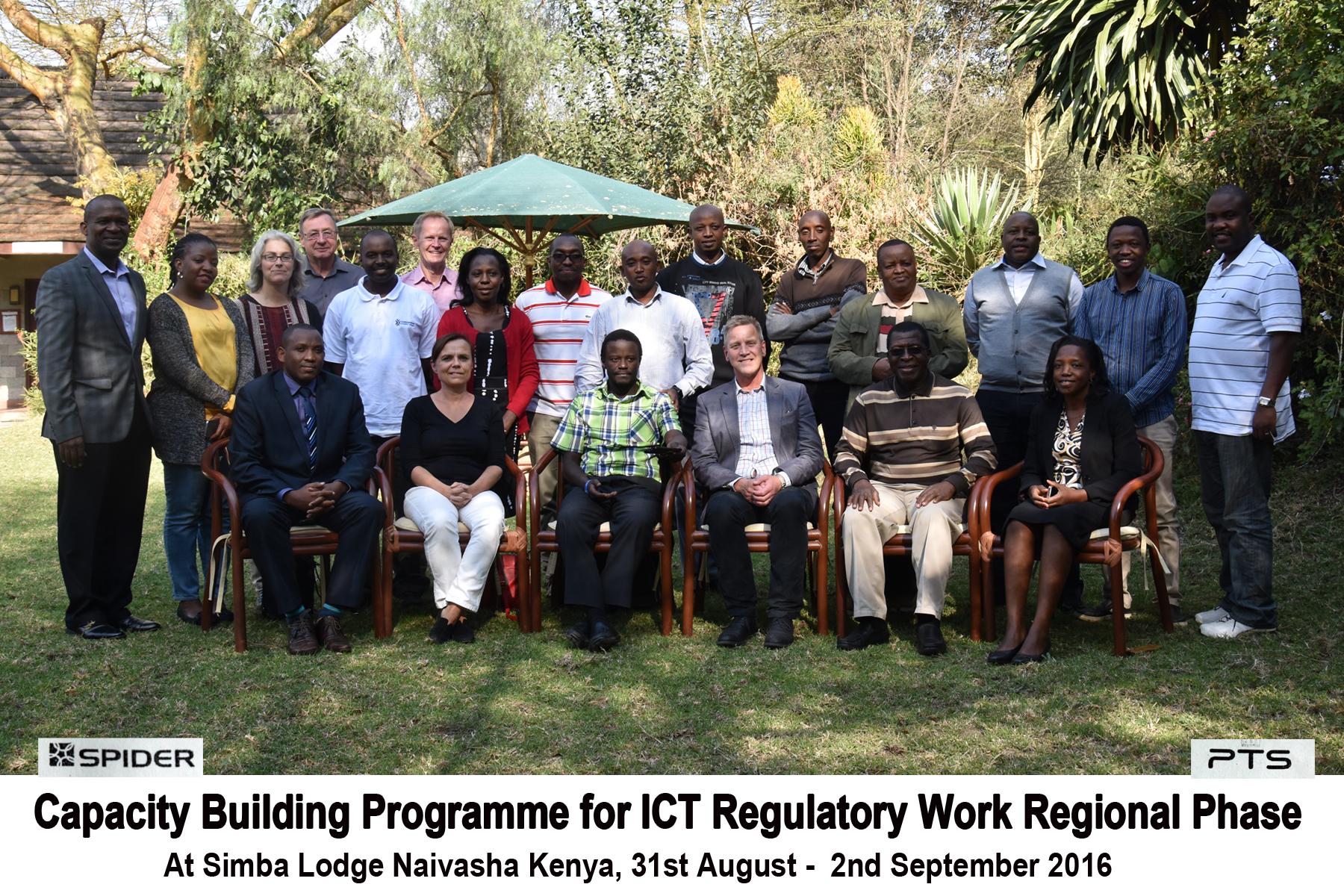Group picture of pilot programme participants regional phase
