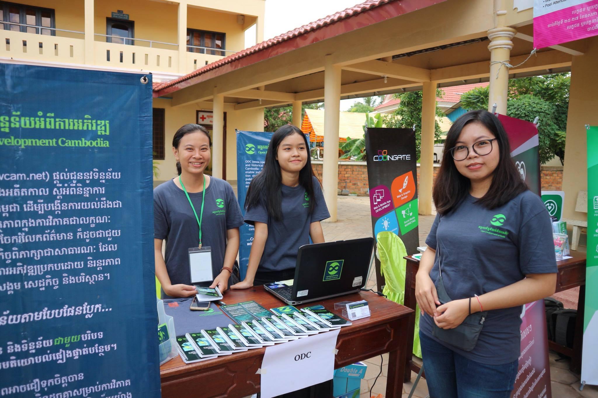 ODC-team-at-the-booth bar camp angkor