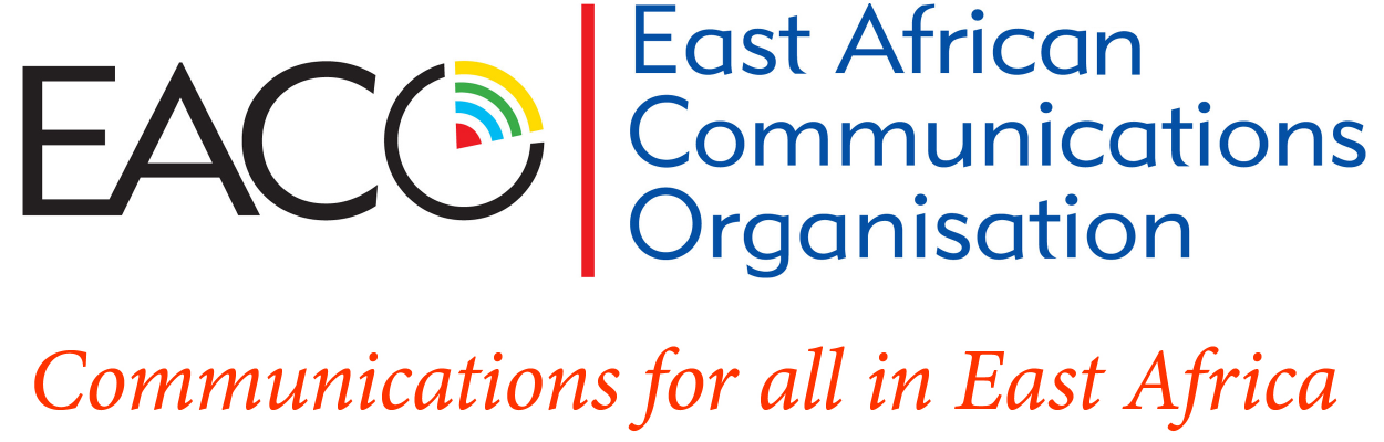 EACO logo text EACO East African Communications Organistaion - Communications for all in East Africa